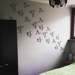 3D print files Origami birds - wall decor, eliza_sparrow