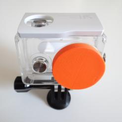 Free 3D print files Xiaomi Yi case lens cover, NikodemBartnik