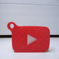 Free 3D printer model YouTube logo keychain, NikodemBartnik