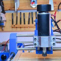 Download free 3D printing designs Dremel CNC 500W spindle mount, NikodemBartnik