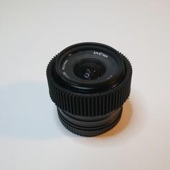 P1300279.JPG Download free STL file Focus Gear For Laowa C-Dreamer 7.5mm • 3D printable object, NikodemBartnik