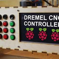 mini.jpg Download free STL file Raspberry Pi Controller For Dremel CNC Case • Object to 3D print, NikodemBartnik