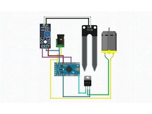 fdd494cb4964945eee06e2b22041215c_preview_featured.jpg Download free STL file Arduino based plant watering system • 3D printer design, NikodemBartnik