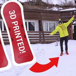 Free 3D printer designs 3D printed skis, NikodemBartnik