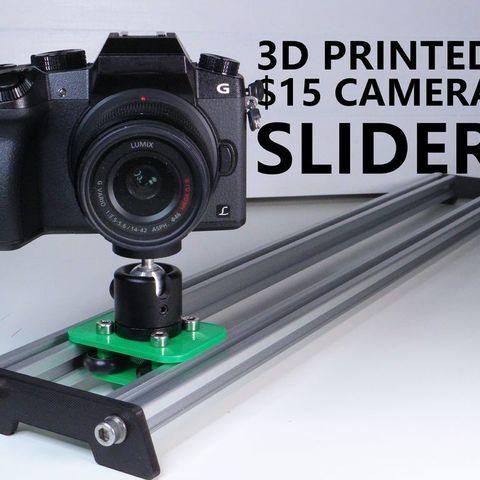 Imprimir en 3D gratis 3D Impreso $15 Deslizador de Cámara, NikodemBartnik