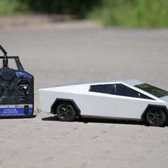 thingiverse_mini.jpg Download free STL file 3D Printed RC Tesla Cybertruck • 3D printer model, NikodemBartnik