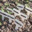 Download free 3D printing files Vegetables signs/labels, NikodemBartnik
