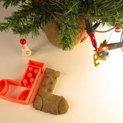 Free 3d printer designs Christmas sock cookie cutter, NikodemBartnik