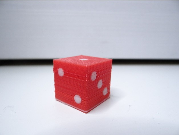 fd7b8067a6ce3cedd8b34a4bc009932e_preview_featured.jpg Download free STL file Simple dual color dice • Model to 3D print, NikodemBartnik