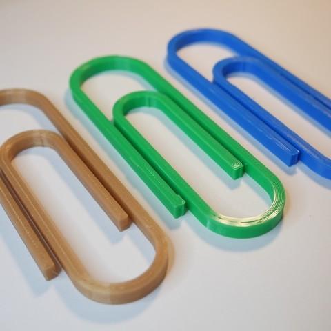 Free 3D printer model Big paper clip, NikodemBartnik