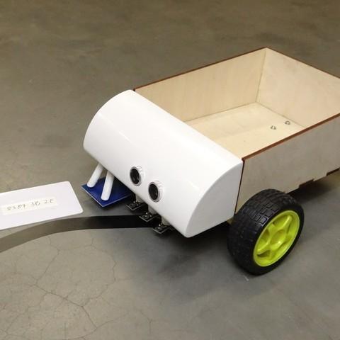 Modelos 3D para imprimir gratis Seguidor de Línea industrial de código abierto (Arduino y RFID), NikodemBartnik