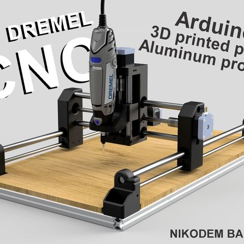 Diy Dremel Cnc 1 Design Et Pieces Arduino Profiles D Aluminium Pieces Imprimees En 3d