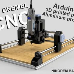Free 3D printer files DIY Dremel CNC #1 design and parts (Arduino, aluminum profiles, 3D printed parts), NikodemBartnik