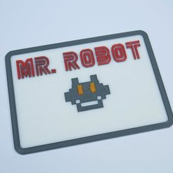 Download free 3D printing files Mr Robot badge, NikodemBartnik