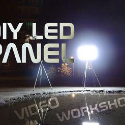 Imprimir en 3D gratis DIY LED panel de piezas, NikodemBartnik