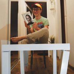 Descargar archivo 3D gratis Ikea Lack con patas plegables - Sistema de bisagras, NikodemBartnik
