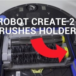 Free 3d printer designs iRobot Create 2 brushes holder, NikodemBartnik