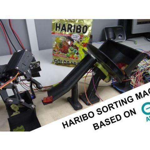 Imprimir en 3D gratis Clasificadora Haribo DIY con Arduino, NikodemBartnik