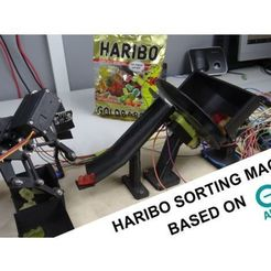Free 3D printer files DIY Haribo sorting machine with Arduino, NikodemBartnik