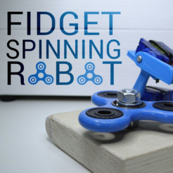 Free 3D printer model Fidget spinner robot, NikodemBartnik