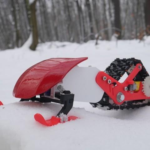 Free 3D printer files 3D printed snowmobile, NikodemBartnik