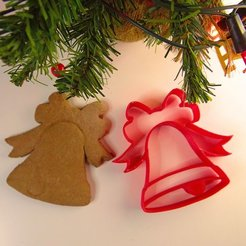 Free 3d print files Christmas bell cookie cutter, NikodemBartnik