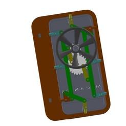 Assemblage  porte étcnhe2.JPG Télécharger fichier STL gratuit porte étanche watertight door bateau ship • Design imprimable en 3D, mecanics