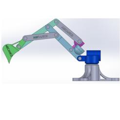 Descargar archivo 3D máquina retroexcavadora, mecanics