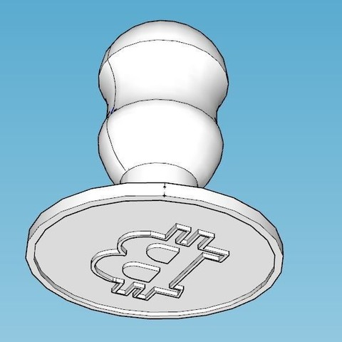 3D printer files Bitcoin biscuit mould, FranBE