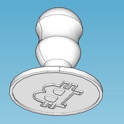 bitcoin.JPG Download STL file Bitcoin biscuit mould • 3D printer object, FranBE