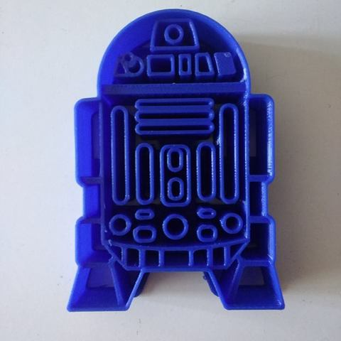 Download 3D printer designs R2D2 Cookie Cutter, Platridi