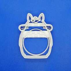 Totoro 1.jpeg Télécharger fichier STL Totoro Coupe-biscuits Ghibli • Design pour imprimante 3D, Platridi