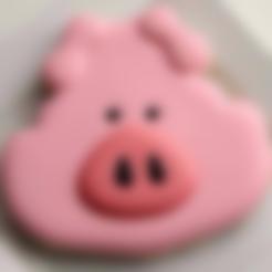 Download free STL file  Pig face Cookie Cutter • 3D printable design, Platridi