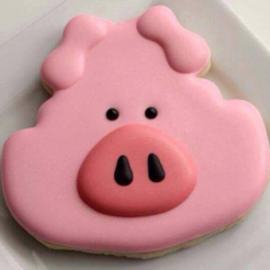 Download free 3D printer files  Pig face Cookie Cutter, Platridi