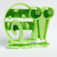gary.png Télécharger fichier STL Coupe-biscuits Gary Bob l'éponge CarréPantalon Bob l'éponge • Plan pour imprimante 3D, Platridi