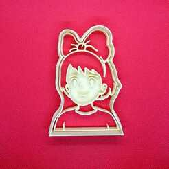 Niña 1.jpeg Télécharger fichier STL Kiki Delivery Ghibli Coupeuse de biscuits • Modèle à imprimer en 3D, Platridi