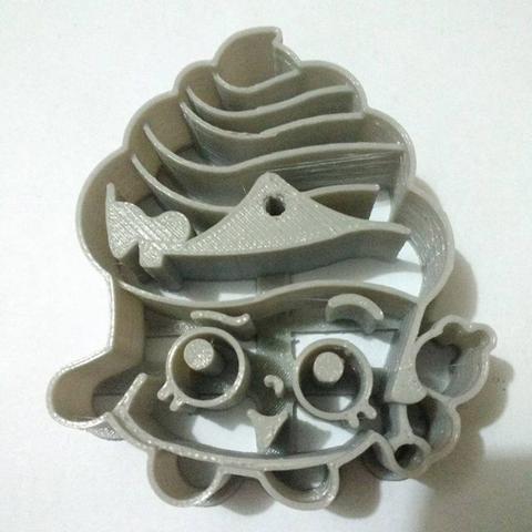 Download STL file shopkins cupcake cookie cutter • Model to 3D print, Platridi