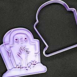 Lapida (2).jpeg Download STL file Halloween Cookie Cutter • Model to 3D print, Platridi