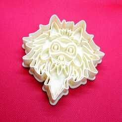 Mascara 1.jpeg Télécharger fichier STL Coupeuse de biscuits Mononoke Princess Ghibli • Design pour impression 3D, Platridi