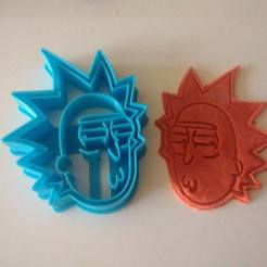 Download 3D printer designs Rick and Morty cookie cutter cookie cutter, Platridi
