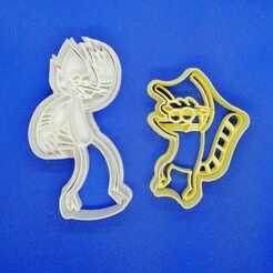Mordecai y Rigby.jpeg Download STL file Regular show Cookie cutter set • 3D printer object, Platridi
