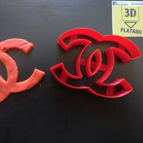 Free chanel cookie cutter 3D model, Platridi