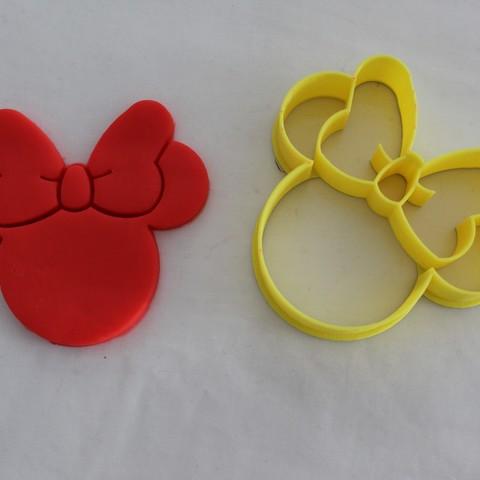 STL file Cookie cutter Minnie, Platridi