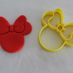 Download STL file Cookie cutter Minnie, Platridi