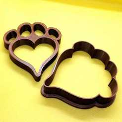 WhatsApp Image 2020-10-29 at 9.34.11 AM.jpeg Download STL file Heart Paw Cookie cutter • 3D printing object, Platridi