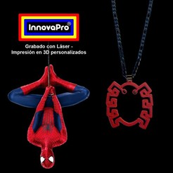 SpidermanF.jpg Download STL file Spiderman's Pendant (2x1) • 3D printable model, InnovaPro