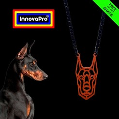 Doberman1.jpg Download free STL file Canine Totem (Doberman/Great Dane) • 3D printable object, InnovaPro
