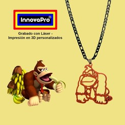 DonkeyK1.jpg Download STL file Donkey Kong (DK) Pendant • 3D printer template, InnovaPro