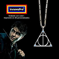 Harry1.jpg Download STL file Deathly Hallows Pendant (Harry Potter) • Model to 3D print, InnovaPro