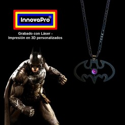 BatmanF.jpg Download STL file Batman Pendant (2x1) • 3D printable template, InnovaPro